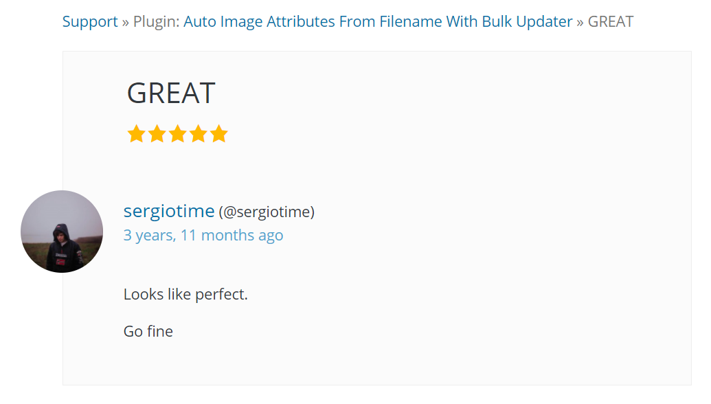Image Attributes Pro First Review