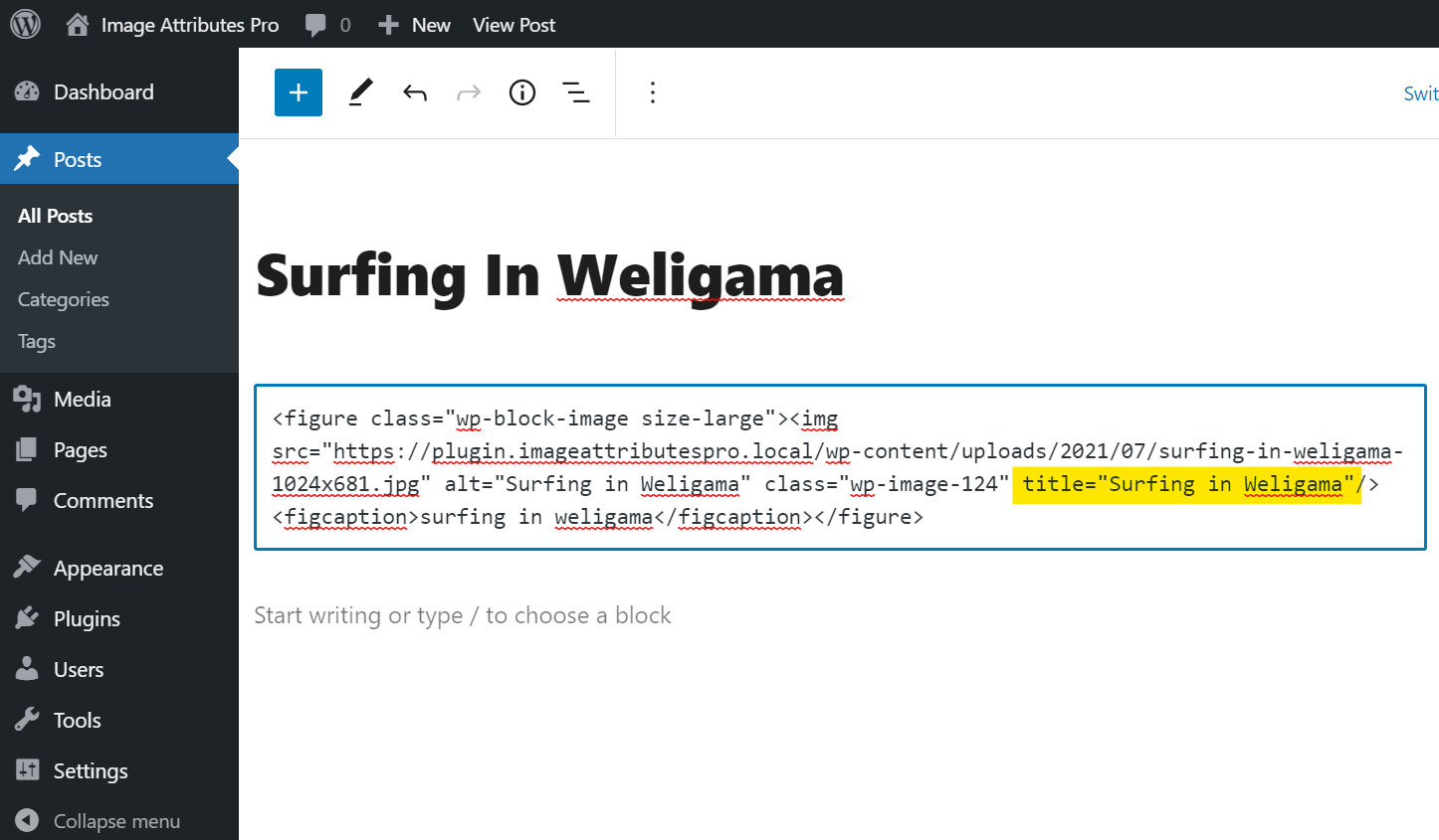 Image Title In Post Html